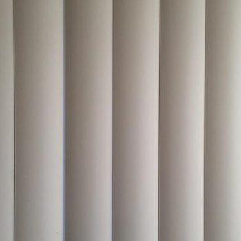 vertical blinds in white