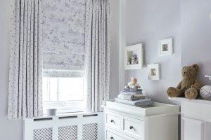 Ivory patterned blinds