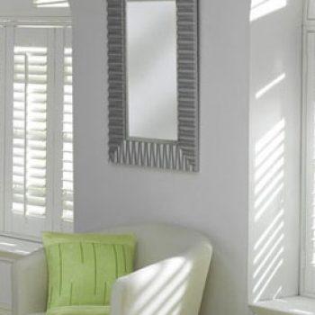 white wood shutters