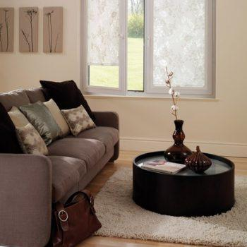 white patterned perfect fit blinds