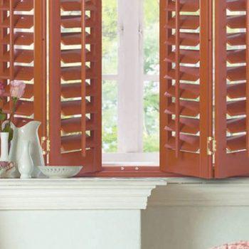natural wooden shutters
