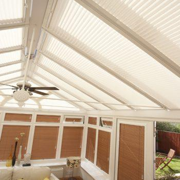 cream roof blinds