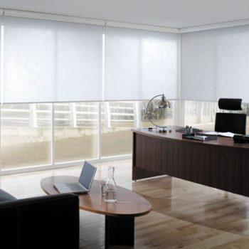White office roller blinds