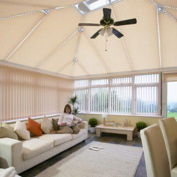 cream conservatory blinds