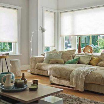 cream honeycomb blinds
