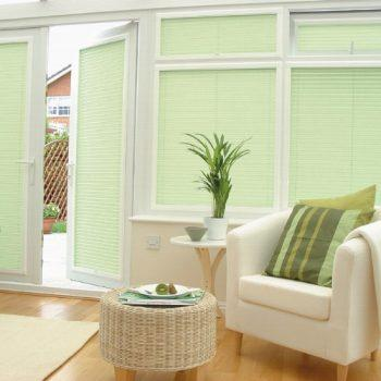 light green perfect fit blinds