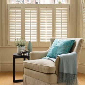 Faux White Wooden Shutters