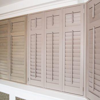 natural plantation shutters