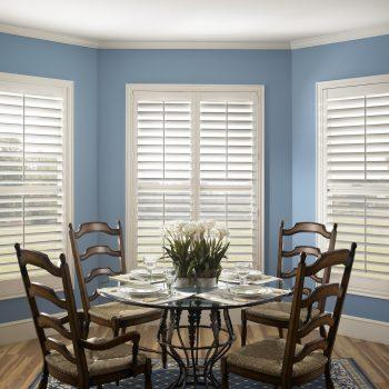 dining room wooden shutters