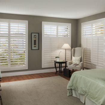wooden bedroom shutters