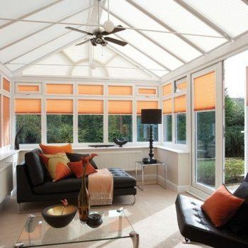 Orange Conservatory Blinds