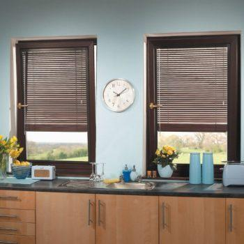 Dark Wood Perfect Fit Blinds
