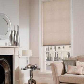 beige pleated blinds for the home