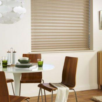 neutral pleated blinds