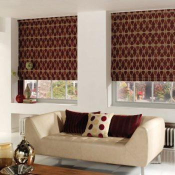 roman blinds patterned