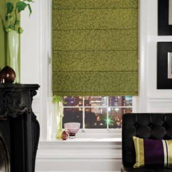roman blinds green