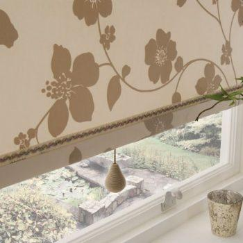 roman blinds beige