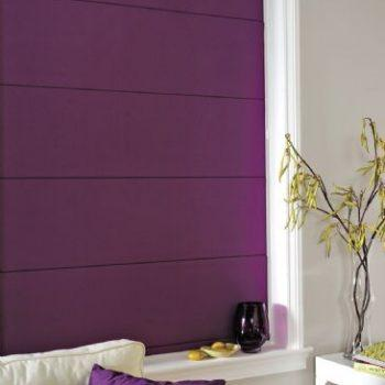 roman blinds purple