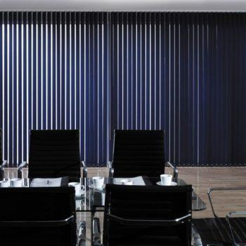 Navy blue vertical blinds