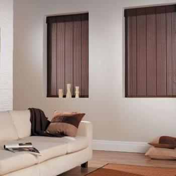 dark colour wooden blinds