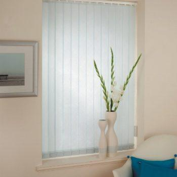 Ice Blue vertical blinds