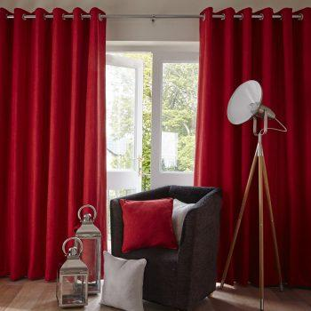 cherry colour curtains