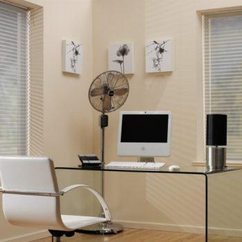 Aspect Grey pleated blinds