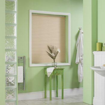 Bathroom pleated blinds