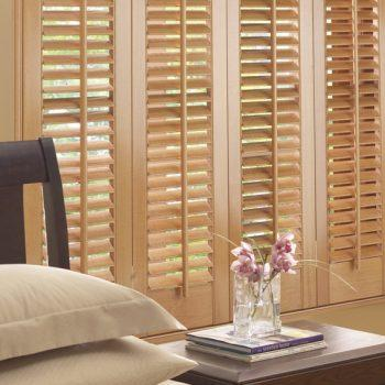 wooden bi-folding door blinds