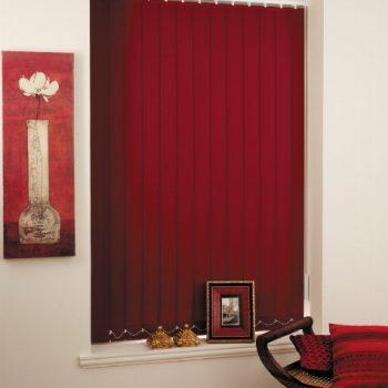 claret coloured vertical blinds