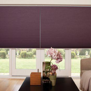 Pleated Blinds in Nova Purple