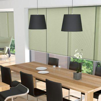 Pleated Blinds in Sola Green