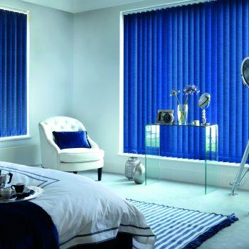 bright coloured vertical blinds