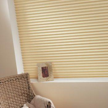 cream colour pleated blinds
