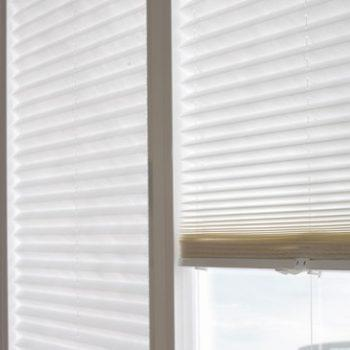 arctic pleated blinds