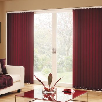 Vertical Carnival Claret Blinds