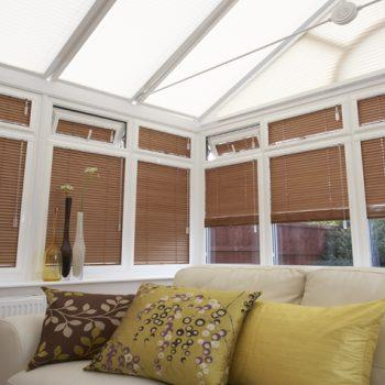 wood coloured blinds