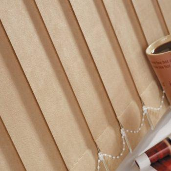 cream vertical blinds