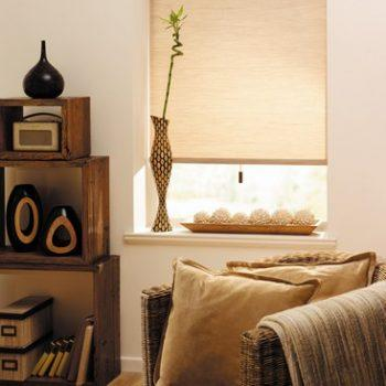 Stria Tan pleated blinds