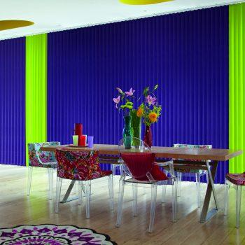 bright colour vertical blinds