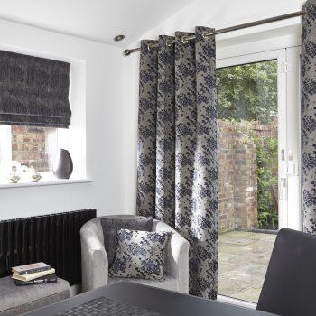 charcoal patterned curtains