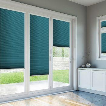 bifold door blinds blue