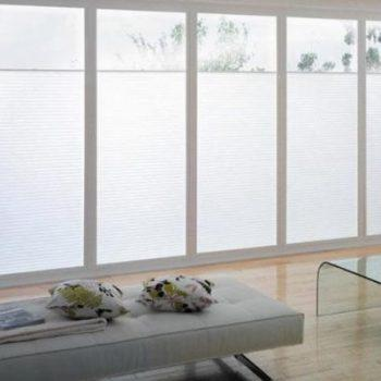 white bifolding door blinds