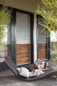 black bifolding door blinds