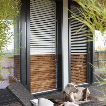 black bifolding door blinds