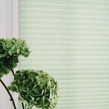 glaze green pleated blinds