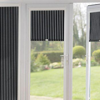 striped perfect fit blinds