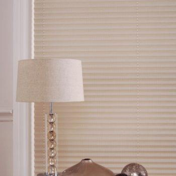 cream pleated blinds
