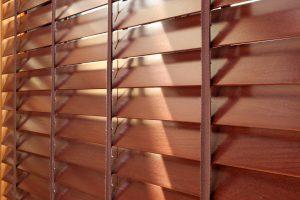 dark wooden blinds in Grimsby