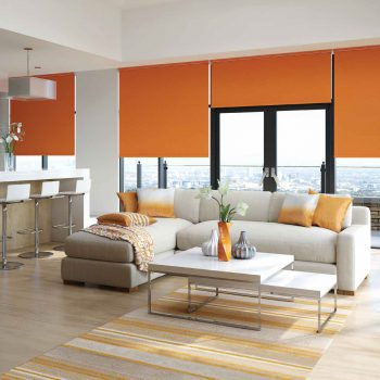 orange motorised blinds